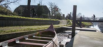 Fietsroute langs het Valleikanaal in Leusden